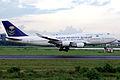 Saudi Arabian Airlines Boeing 747-446 TF-AAF Landing (8174003771).jpg