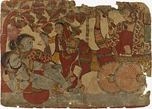 Scene from the Story of the Marriage of Abhimanyu and Vatsala.jpg