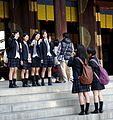 School girls at Meiji-jingu, Shibuya.jpg