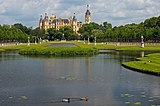 Schweriner Schloss and Kreuzkanal. View from the south-west. Germany.jpg
