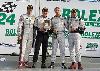 Scott Tucker (racing driver) - Tucker with co-drivers Richard Westbrook, Ryan Hunter-Reay, and Lucas Luhr at Daytona