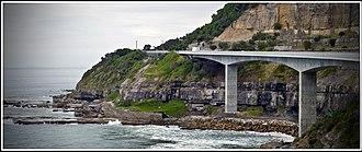 Sea Cliff Bridge - Image: Sea Cliff Bridge Stanwell Park