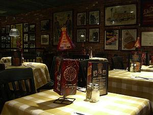Uno Pizzeria & Grill - The interior of the Pizzeria Uno in Harmon Meadow Plaza in Secaucus, New Jersey.