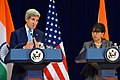 Secretaries Kerry and Pritzker Address Reporters at the U.S.-India Strategic and Commercial Dialogue Joint Press Conference (21010252953).jpg