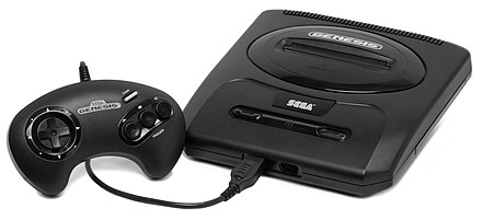 The Sega Genesis (second North American version pictured) took control of the 16-bit console market. Sega-Genesis-Mod2-Set.jpg