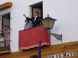 Holy Week in Seville - Singing a saeta.