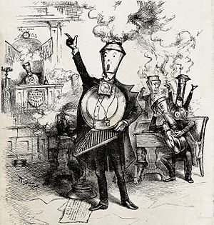 Competition law - Senatorial Round House by Thomas Nast, 1886