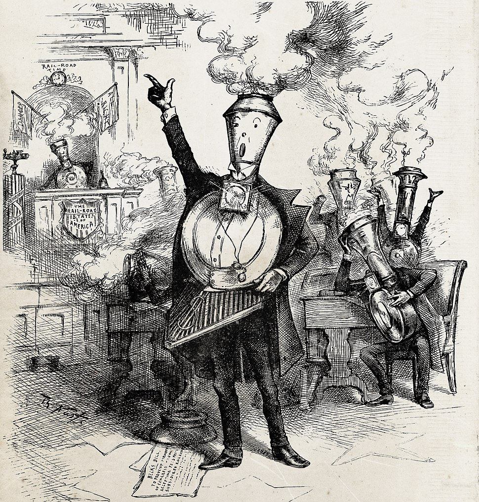 Senatorial Round House by Thomas Nast 1886
