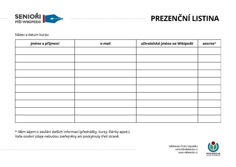 File:Senioři píší Wikipedii, prezenční listina.pdf