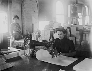 Sewing - Early 20th century sewing in Detroit, Michigan.