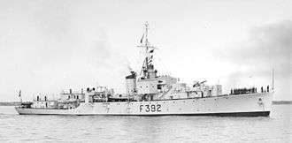 Pakistan Navy - The frigate PNS ''Shamsher'' in 1951.