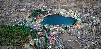 Lower Kachura Lake - Aerial View of Shangrilla Lake and Resorts, Skardu