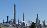 A Shell oil refinery in Martinez, California
