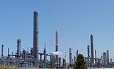 A Shell oil refinery in Martinez, California