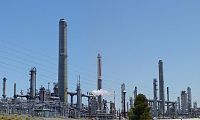 View of the Shell/Valero Martinez oil refinery