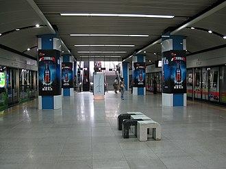 Window of the World station - Image: Shi Jie Zhi Chuang Station Line 1 Platform