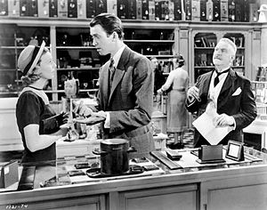 The Shop Around the Corner - Margaret Sullavan, James Stewart and Frank Morgan in The Shop Around the Corner