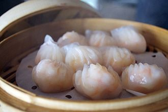 Chinese regional cuisine - Har gow shrimp dumplings are a classic Cantonese dim sum dish