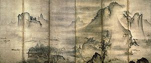 Tenshō Shūbun - Landscape of the Four Seasons in the collection of Tokyo National Museum, attributed to Shūbun