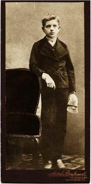 Sibélius as a schoolboy