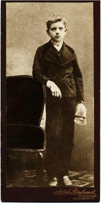 Jean Sibelius - 11-year-old Sibelius in 1876
