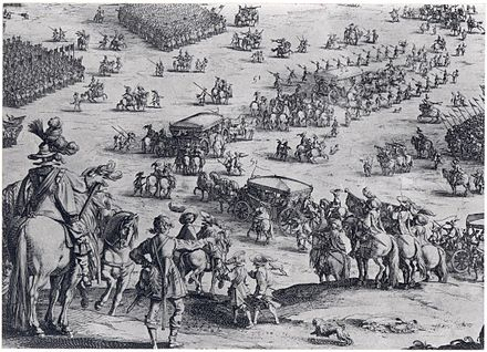 The Siege of Breda in 1624 by Jacques Callot, showing the tercios of Army of Flanders. Siege of Breda.jpg
