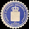 Siegelmarke Direction der Provinz. Irren - Heil - Anstalt zu Leubus W0223163.jpg