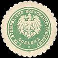Siegelmarke Königlich Preussische Stempel - und Erbschaftssteueramt - Coblenz W0215098.jpg