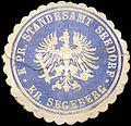 Siegelmarke Königlich Preussisches Standesamt Seedorf - Kreis Segeberg W0223313.jpg