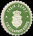 Siegelmarke Train - Depot - XIX. (2. Königlich Sächsisches) Armee - Korps W0238400.jpg