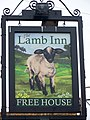 Sign for the Lamb Inn, Axminster - geograph.org.uk - 1399129.jpg
