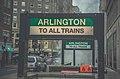 Signs at Arlington station headhouse, December 2014.jpg