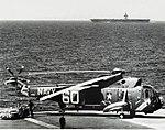 Sikorsky SH-3A Sea King of HS-2 on USS Hornet (CVS-12), in June 1967.jpg
