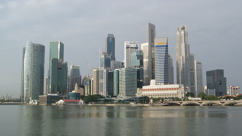 Berkas:Singapore Skyline in the Early Morning.JPG