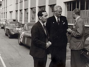 Bristol Cars - Sir George Stanley White with Bristol the Bristol 450 Le Mans cars