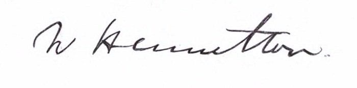 Sir William Hamilton signature