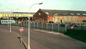 Queen's Quay, Belfast - The site of the station in October 1988, before construction began on the cross-harbour M3 and rail bridges.