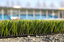 artificial football turf. Side View Of Artificial Turf Football H