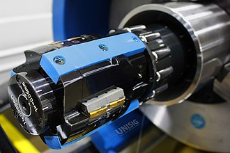 Roller burnishing - A Skive-Burnishing tool is used to achieve mirror surface finish in hydraulic cylinders.