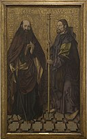 Skt. Ildefonso-Mesteren - Saints Paul and James the Great (St James of Compostela) - KMS3389 - Statens Museum for Kunst.jpg