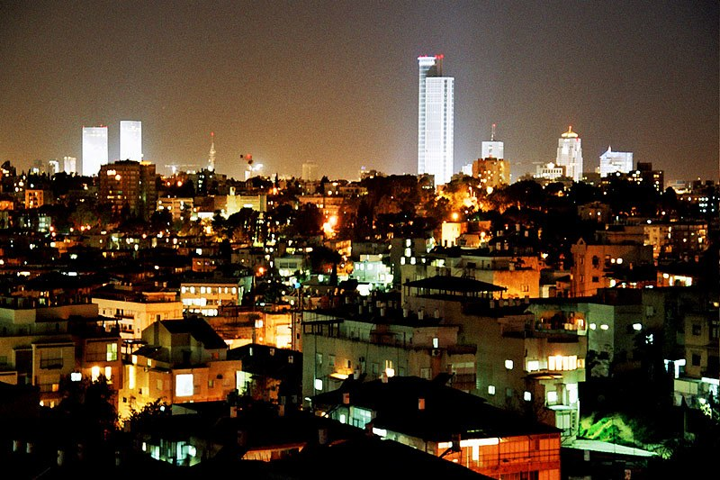 Skyline of Gush Dan, Tel Aviv, Israel (2003)