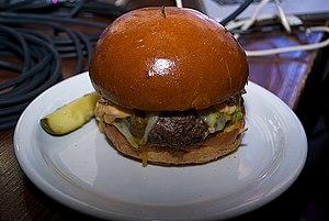50/50 burger - Slaters 50-50 burger