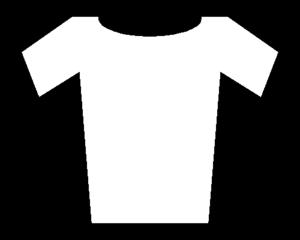 2017 Volta a Catalunya - Image: Soccer Jersey White Black (borders)