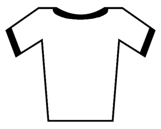 Pierre Rolland (cyclist) - Image: Soccer Jersey White Black (borders)