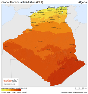 Solar power in Algeria - Solar potential in Algeria