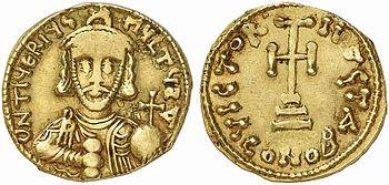 Solidus of Tiberios Petasius