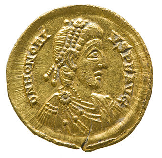 Western Roman Empire - Solidus of Emperor Honorius.