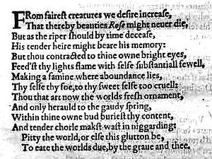 English: Shakespeare's sonnet 1