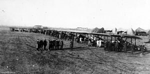 Cedric Howell - Sopwith Camels of No. 45 Squadron RFC at an airfield in Italy, December 1917.