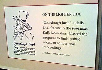 Fairbanks Daily News-Miner - A museum exhibit in Valdez, Alaska, features Sourdough Jack.